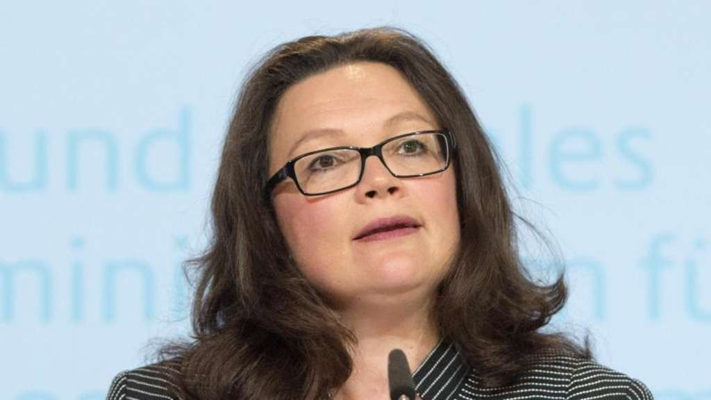 Arbeitsministerin Andrea Nahles will will am Acht-Stunden-Tag festhalten. Foto: Maurizio Gambarini