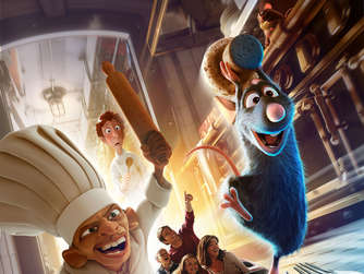 "Attraktion ""Ratatouille"" im Disneyland Paris."