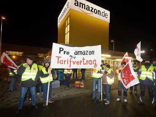 Verdi setzt Amazon-Streiks fort