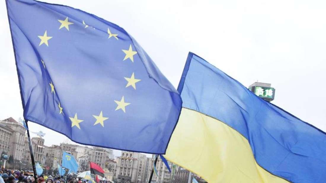 Zum Jahreswechsel ist das von Moskau kritisierte Freihandelsabkommen zwischen EUund Ukraine in Kraft getreten. Foto: Sergey Dolzhenko/Archiv