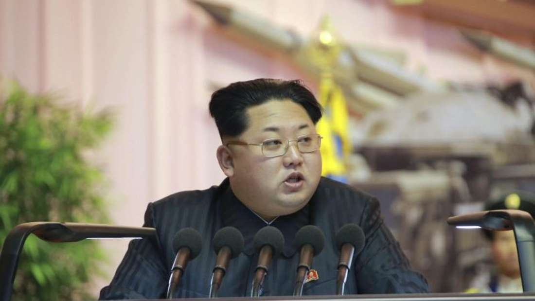 In seiner Neujahrsansprache hat Nordkoreas Machthaber angekündigt, die Beziehungen zu Südkorea verbessern zu wollen. Foto: epa/Kcna/Archiv