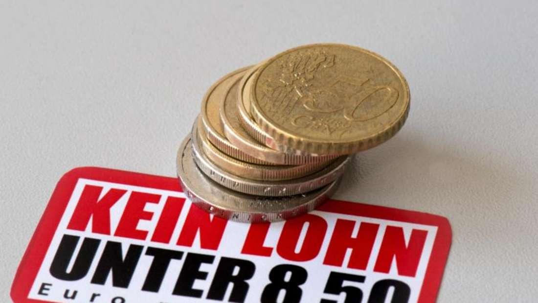 8,50 Euro - der Mindestlohn hat laut Experten vieler Befürchtungen zum Trotz nicht dem deutschen Arbeitsmarkt geschadet. Foto: Arno Burgi/Symbolbild/Archiv