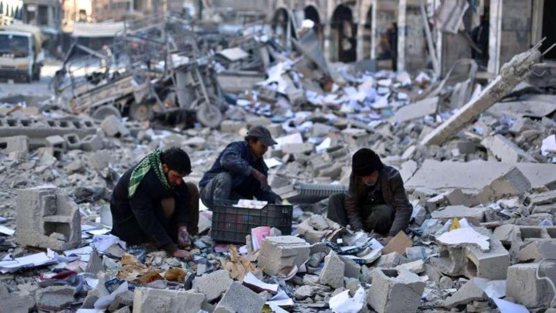 Fünf Jahre dauert der Bürgerkrieg in Syrien bereits an. Viele Städte sind fast restlos zerstört. Foto: Mohammed Badra/Symbolbild/Archiv