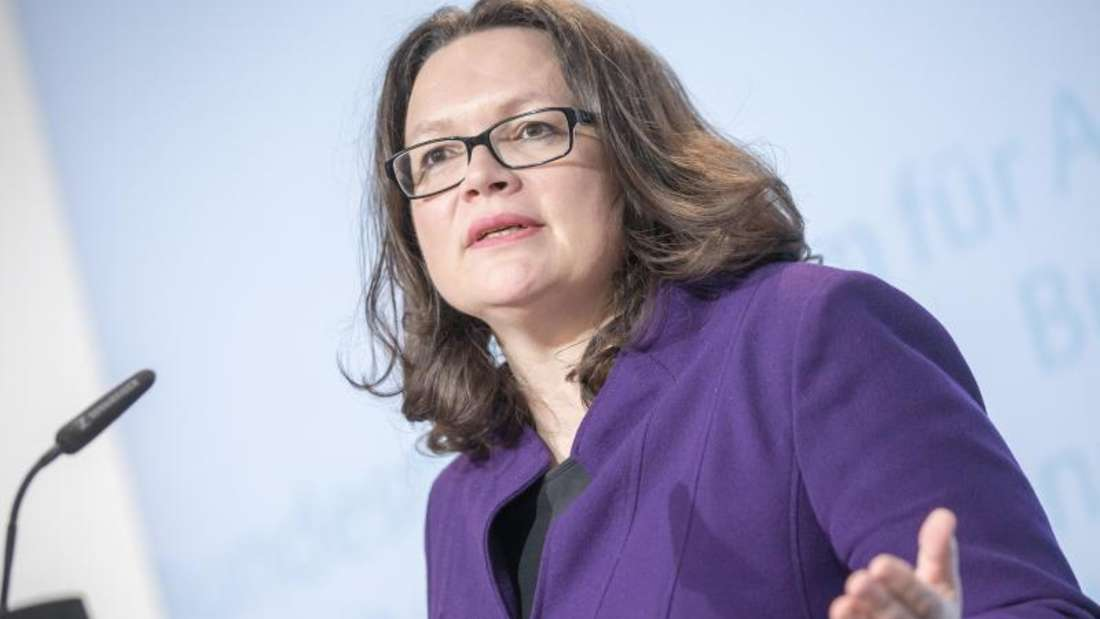 Sozialministerin Andrea Nahles (SPD) will die Jobcenter von Bürokratie befreien. Foto: Michael Kappeler