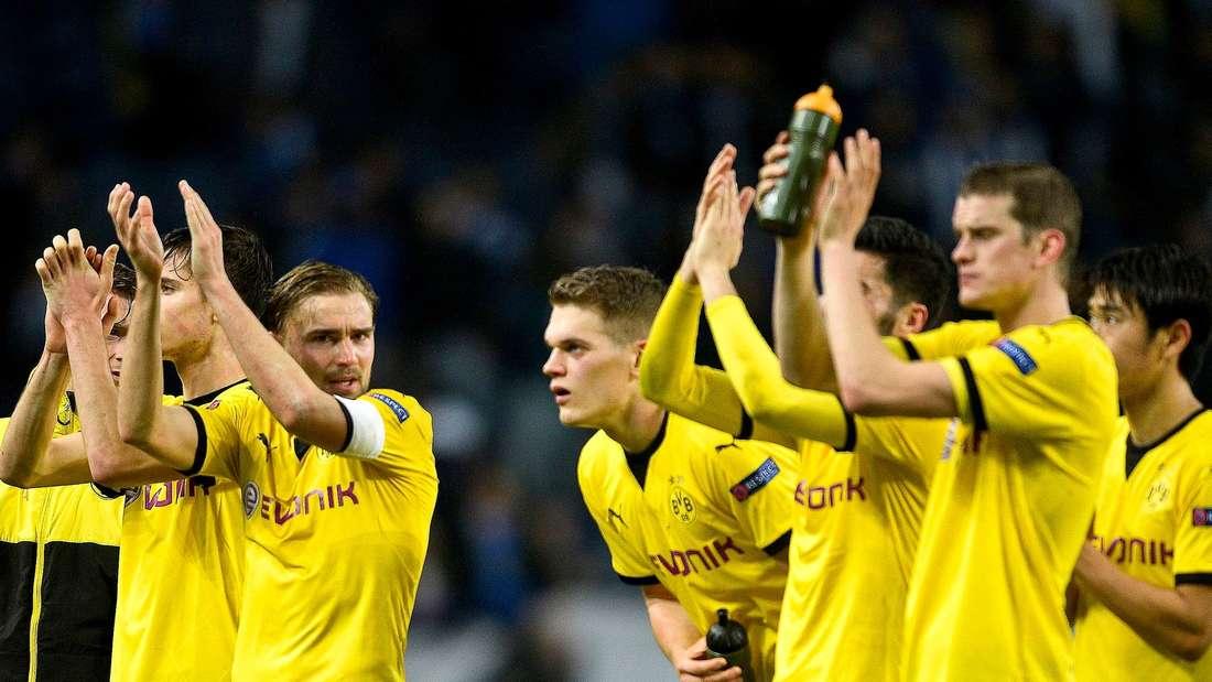 Applaus, Applaus: Borussia Dortmund erreicht nach zwei Siegen über den FC Porto das Achtelfinale der Europa League.