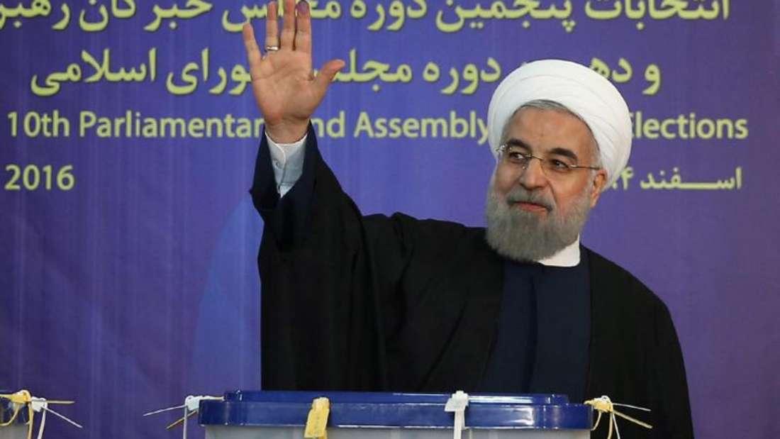 Die Reformer um Präsident Ruhani haben bei der Parlamentswahl ein starkes Ergebnis eingefahren. Foto: Presidential Official Website