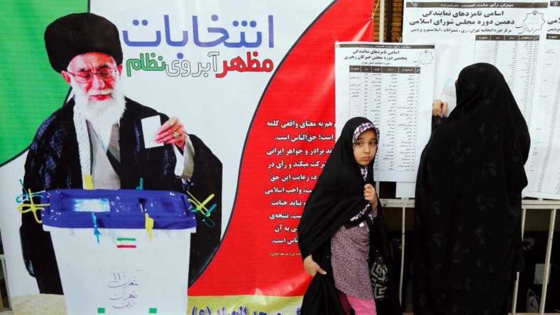 Insgesamt waren 55 Millionen Iraner wahlberechtigt.Foto: Abedin Taherkenareh
