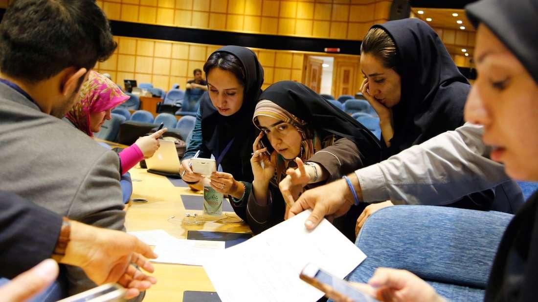 Viele Iraner waren zur Wahl aufgerufen.