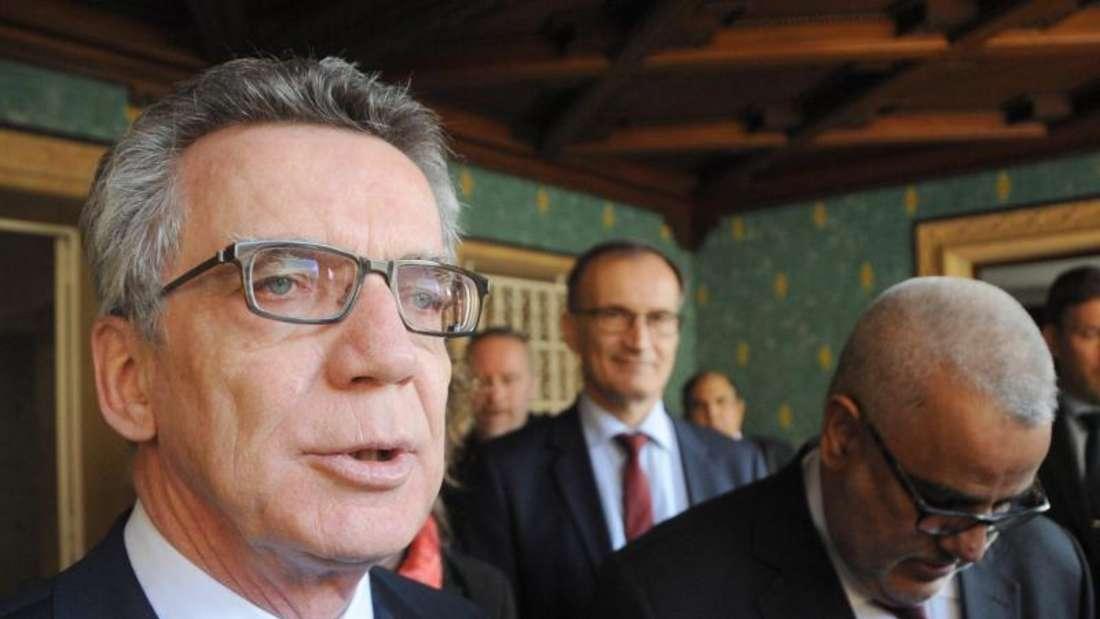 Bundesinnenminister Thomas de Maizière in Marokko. Foto: Abdelhak Senna
