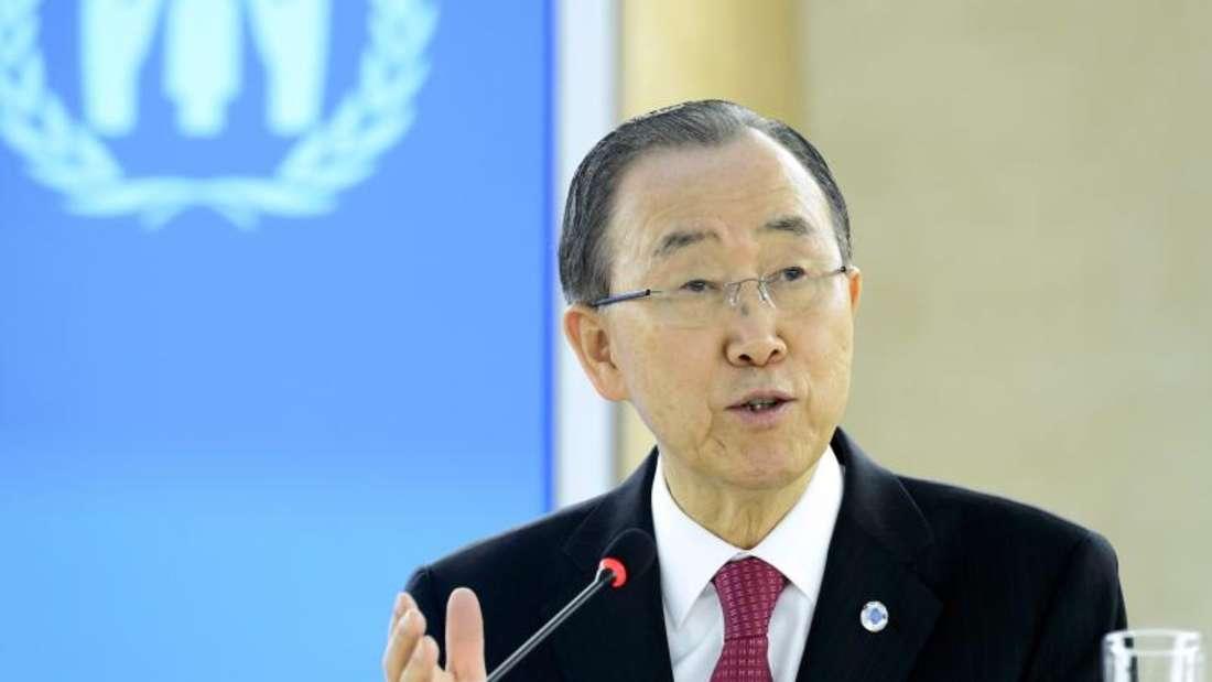 UN-Generalsekretär Ban Ki Moon beklagt ein Wegducken vieler reicher Länder in der Flüchtlingskrise. Foto: Martial Trezzini