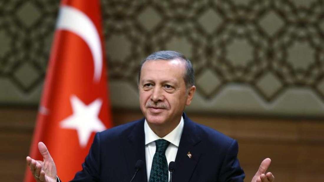 Der türkische Präsident Erdogan imSommer vergangenenJahres. Foto: Presidential Press Office