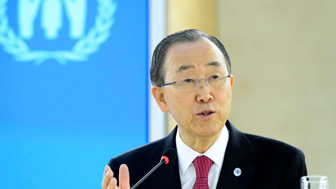 UN-Generalsekretär Ban-Ki Moon.