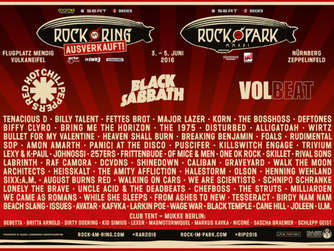 "Das Line-Up von ""Rock am Ring"" 2016."