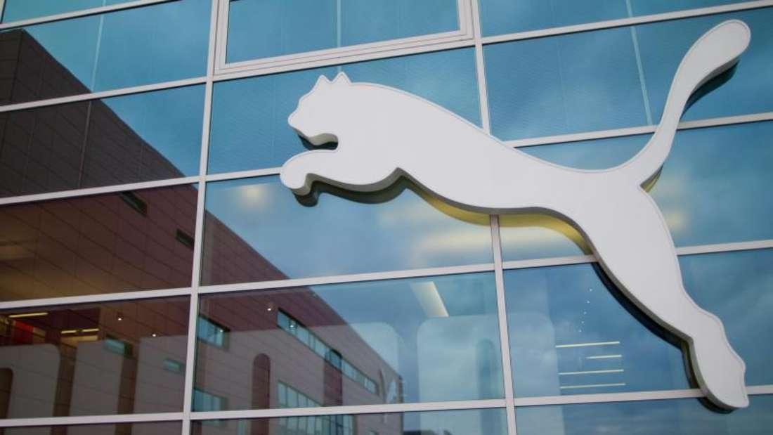 Das Logo des Sportartikelherstellers Puma. Foto: Daniel Karmann/Archiv
