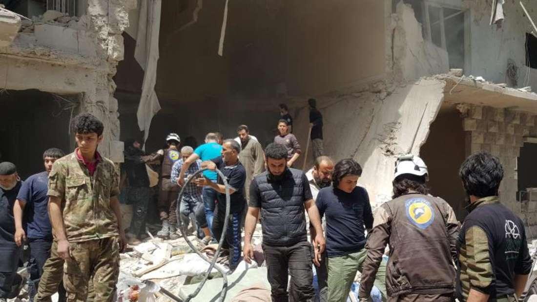 Umkämpfte Stadt: Assad-treue Kräfte kontrollieren den Westen der einst zweitgrößten Stadt Syriens, Regimegegner den Osten. Die Armee versucht seit längerem, den letzten Nachschubweg der Rebellen zu kappen. Foto:Zouhir Al Shimale/