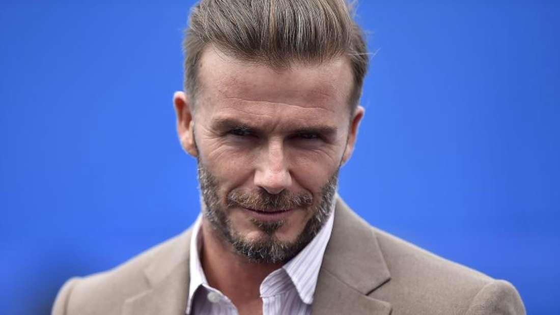 David Beckham bezieht Stellung.