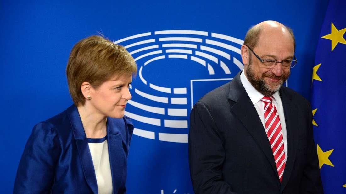 Nicole Sturgeon und Martin Schulz.