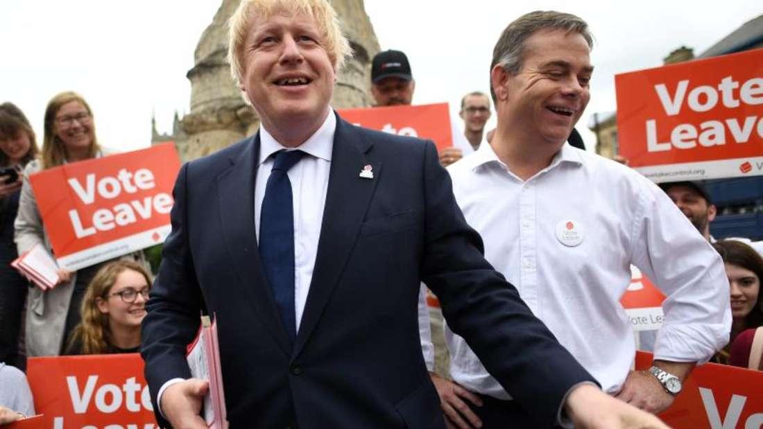 Der ehemalige Bürgermeister Londons, Boris Johnson, wirbt für den Austritt Großbritanniens aus der EU.