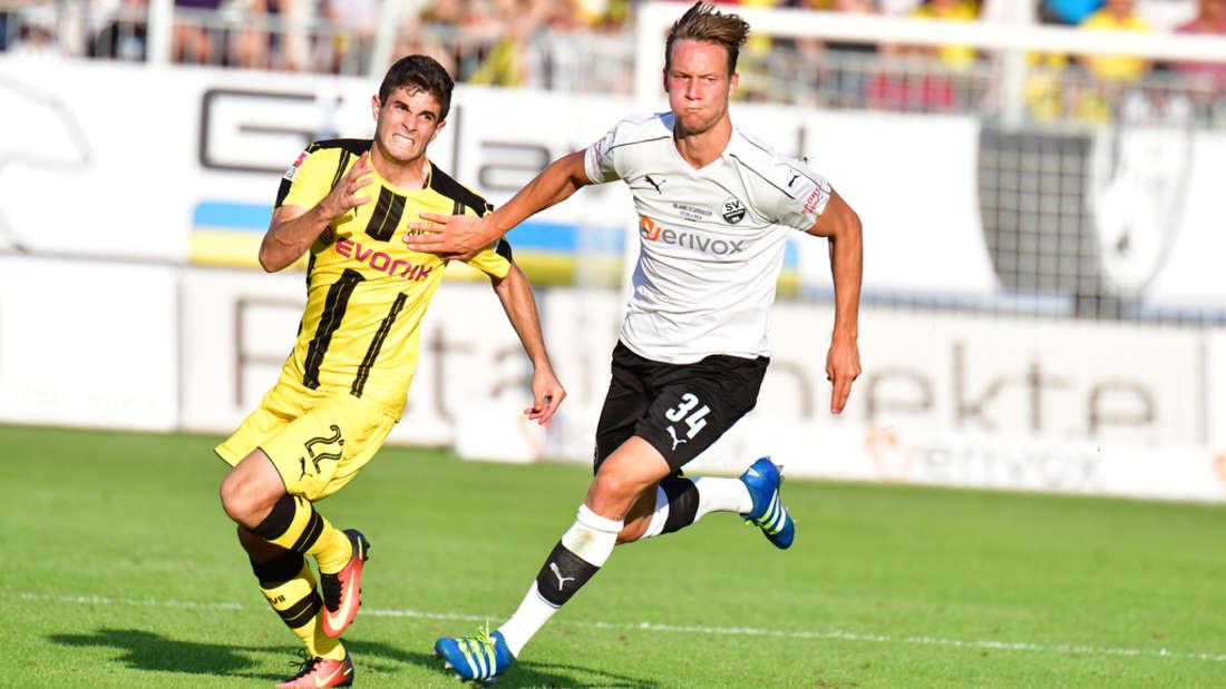 SV Sandhausen gegen Borussia Dortmund