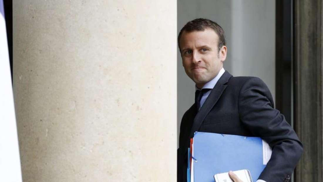 FrankreichsWirtschaftsministerEmmanuel Macron tritt zurück. Foto:Etienne Laurent/Archiv