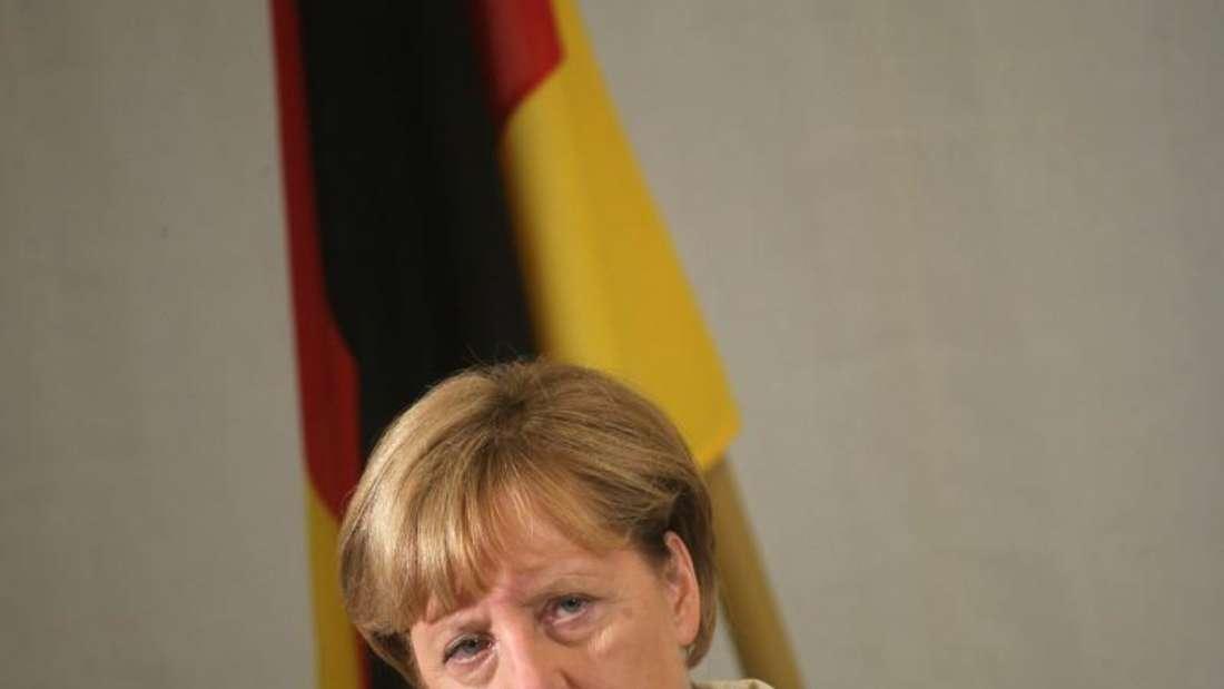 Angela Merkel vergangene Woche inEstland. Die Kanzlerin hat deutsche Fehler in der früheren Flüchtlingspolitik eingeräumt. Foto: Valda Kalnina
