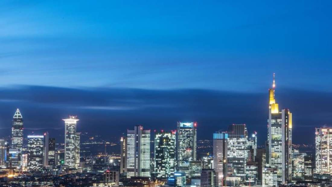 Die Frankfurter Bankenskyline:Für Banken ist Deutschland ein hart umkämpfter Markt. Foto: Boris Roessler