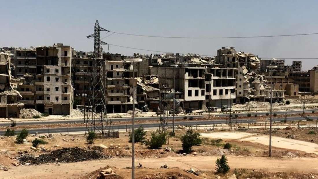 Zerstörte Gebäude im syrischen Aleppo - die Stadt war einst ein blühendes Handelszentrum. Foto: Michael Alaeddin