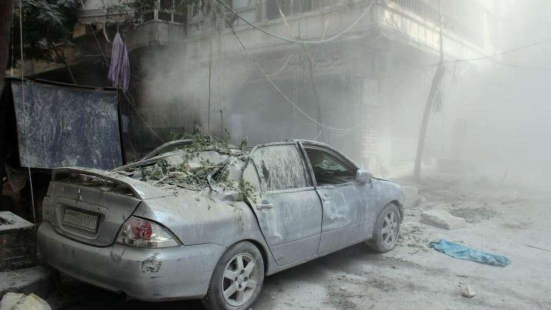 Aleppo erlebte in den vergangenen Tagen die heftigsten Angriffe seit Beginn des Bürgerkriegs 2011. Foto:Stringer