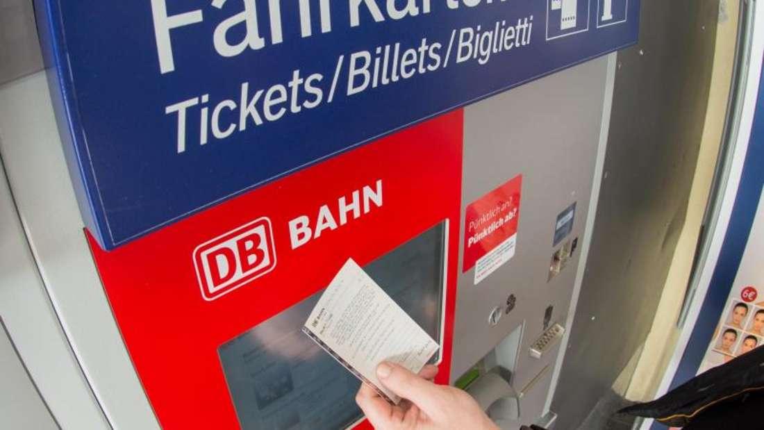 Fahrkartenautomat der Deutschen Bahn.