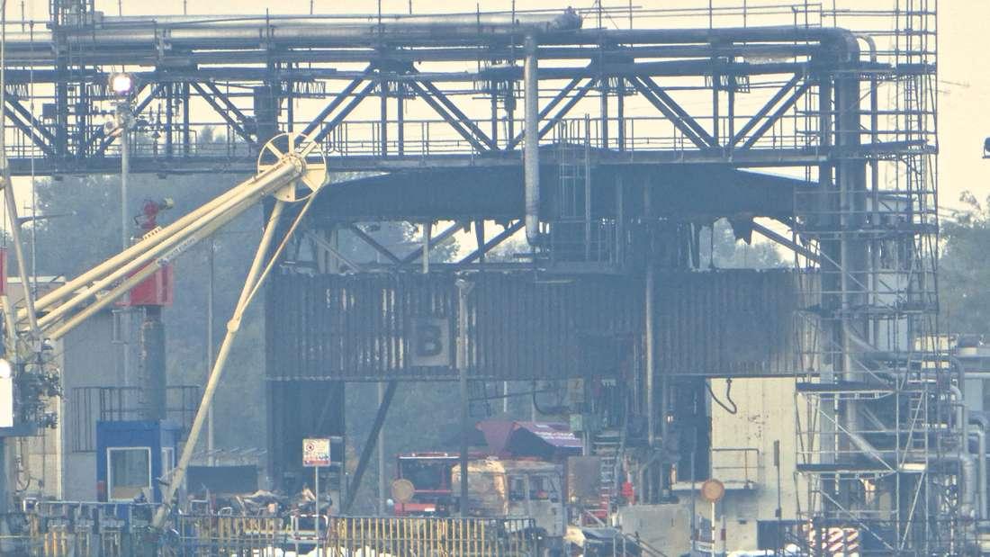 Der Tag nach dem verheerenden Feuer auf dem Ludwigshafener Werksgelände der BASF.