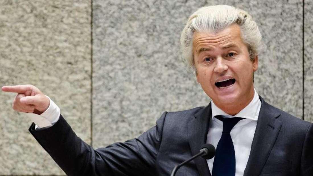 Nach Ansicht von Geert Wilders ist der Prozess gegen ihn politisch motiviert. Foto: Martijn Beekman