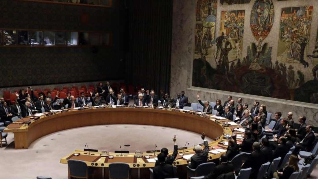 Der UN-Sicherheitsrat in New York hat der Waffenruhe in Syrien zugestimmt. Foto: Jason Szenes