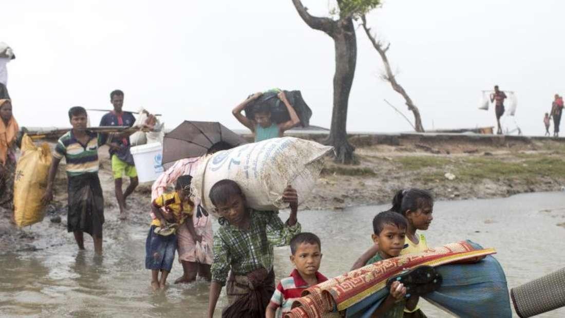 Eine halbe Million Rohingya ist mitlerweile aus dem vorwiegend buddhistischen Myanmar geflohen. Foto: Km Asad/ZUMA Wire