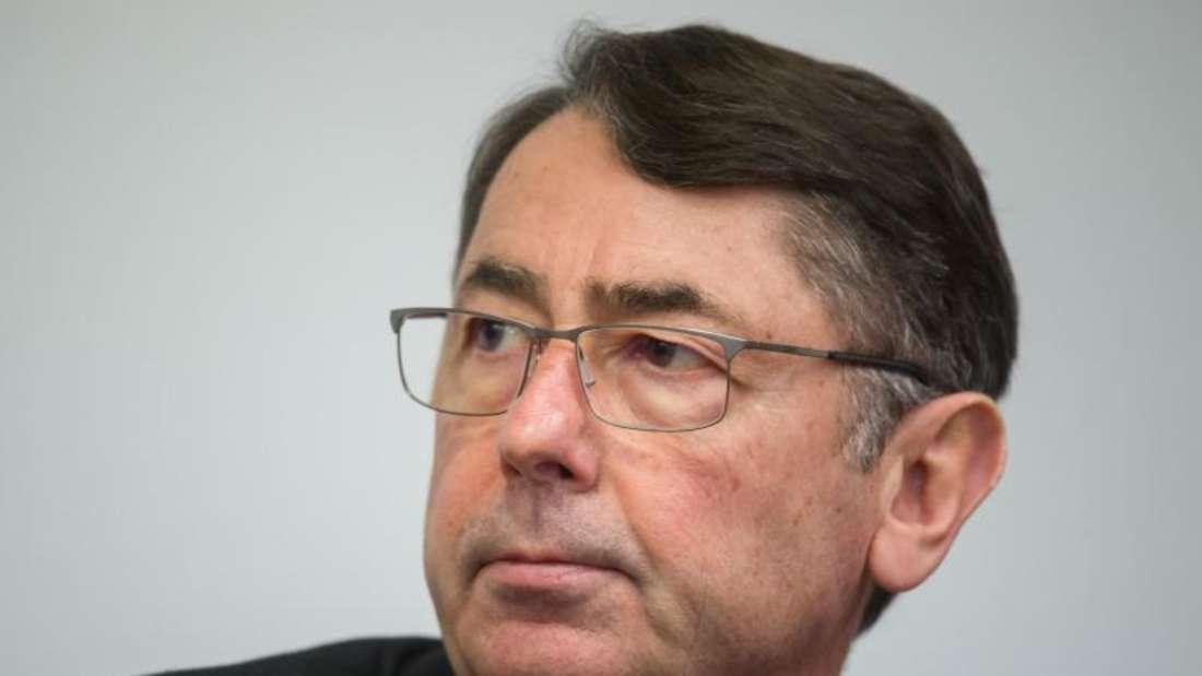 Ex-HRE-Chef Georg Funke vor Gericht in München. Foto: Peter Kneffel