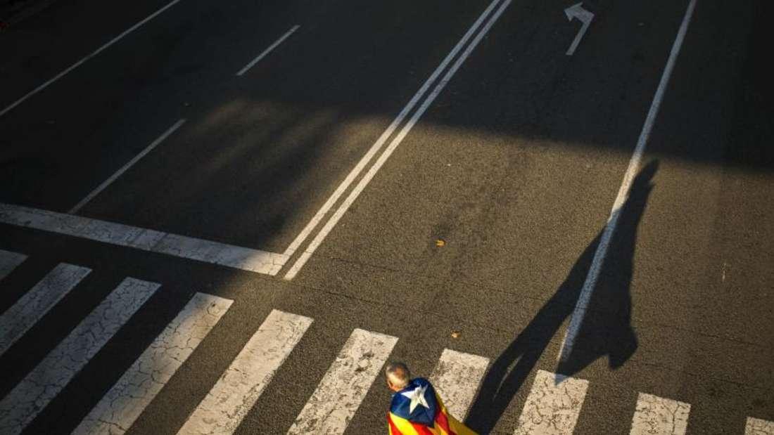 Die Zahl der Befürworter einer Abspaltung Kataloniens von Spanien lag in den vergangenen Jahren zwischen knapp 40und 50Prozent. Foto: Francisco Seco