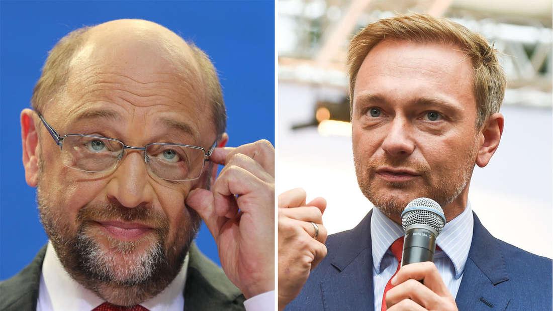 Christian Lindner gibt Martin Schulz nur noch vier Wochen als SPD-Chef.