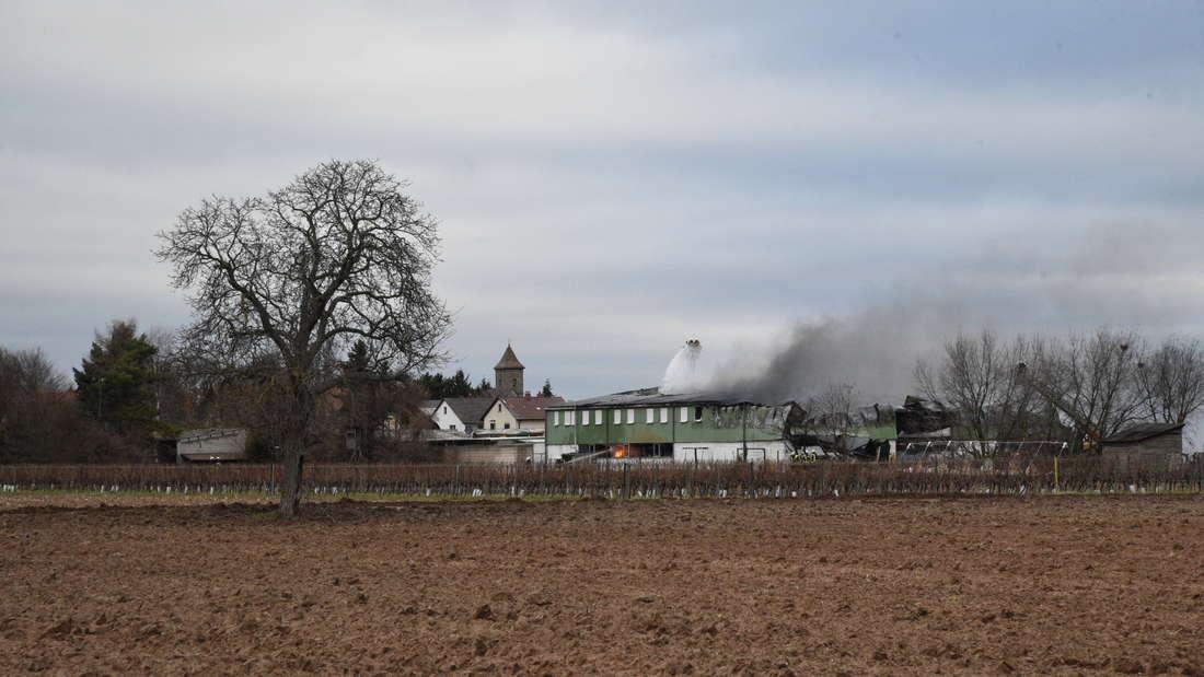 Großbrand in Hochdorf-Assenheim