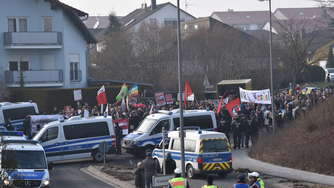 Demonstrationen in Kandel starten friedlich