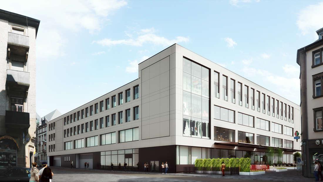 Das Gebäude in der Breiten Straße im Ganzen. So soll es nach dessen Fertigstellen aussehen (Abweichungen sind durchaus möglich).