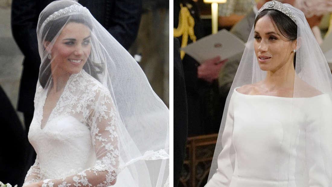 Kate oder Meghan, welche Braut hatte das schönste Kleid, Make-Up und die schönste Frisur?
