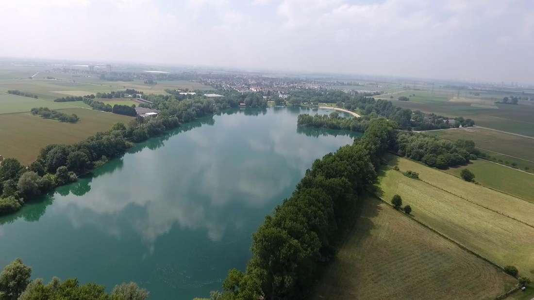 Der Badesee in Heddesheim.