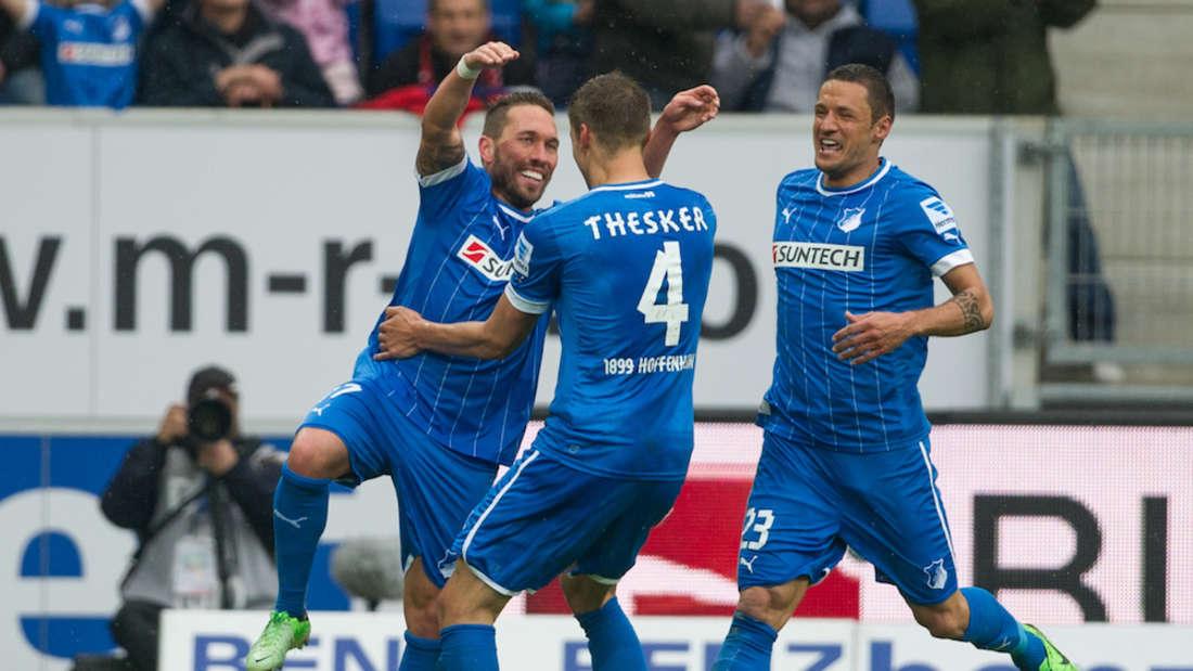 Tobias Weis (l.) und Sejad Salihovic (r.) sind mit der TSG Hoffenheim in die Bundesliga aufgestiegen.