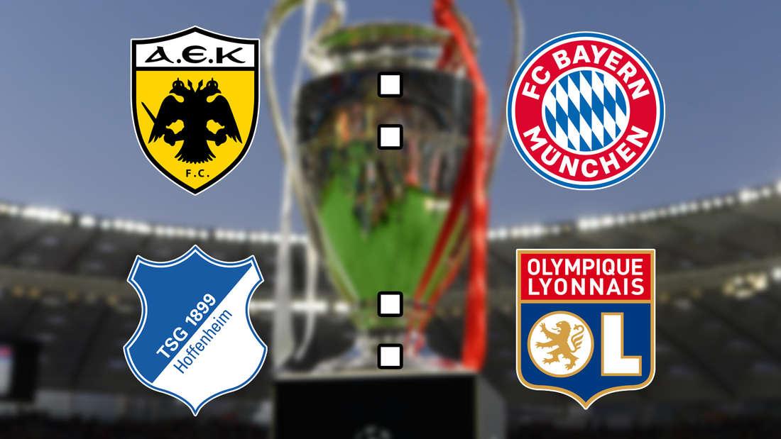 AEK Athen gegen FC Bayern, Hoffenheim gegen Olympique Lyon, Champions League im Live-Ticker