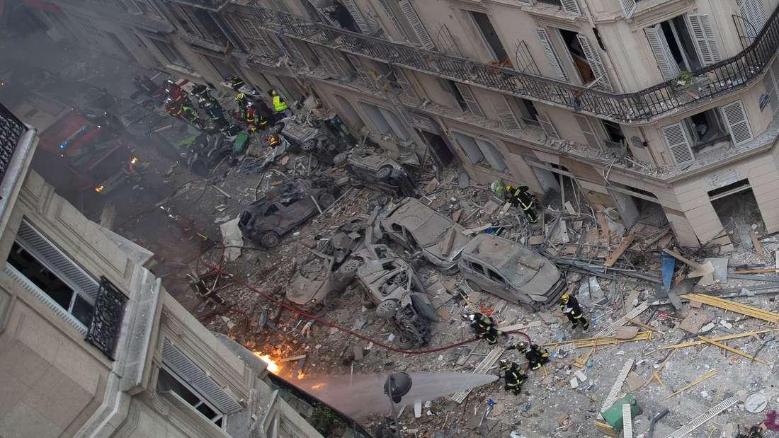 Ein Trümmerfeld: Diese Aufnahme zeigt die Wucht der Explosion in Paris.