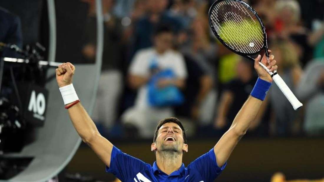 Novak Djokovic könnte mit einem siebten Triumph alleiniger Rekordsieger in Melbourne werden. Foto: Lukas Coch/AAP