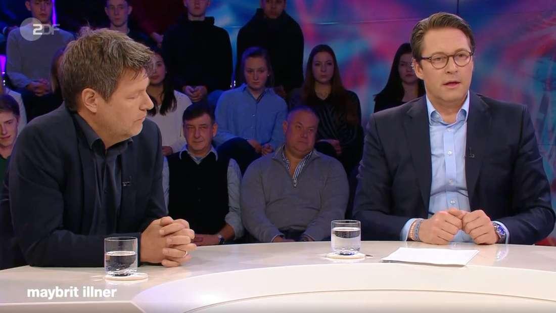 """Verkehrsminister Scheuer gegen Grünen-Chef Habeck bei""""Maybrit Illner"""""""