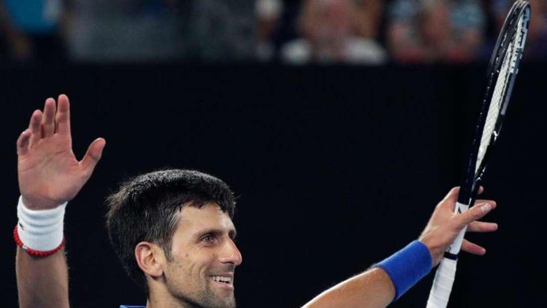 Novak Djokovic hat sich im Finale der Australian Open gegen Rafael Nadal durchgesetzt. Foto: Kin Cheung/AP