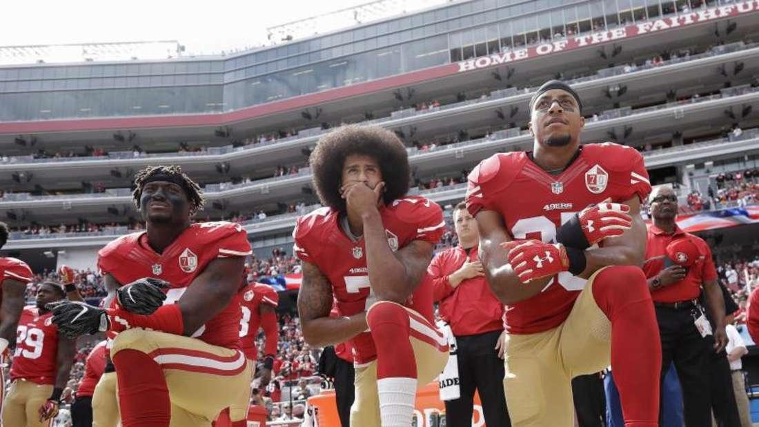 Donald Trump wetterte gegen Spieler, die während der Hymne aus Protest auf die Knie gingen. Foto: Marcio Jose Sanchez/AP