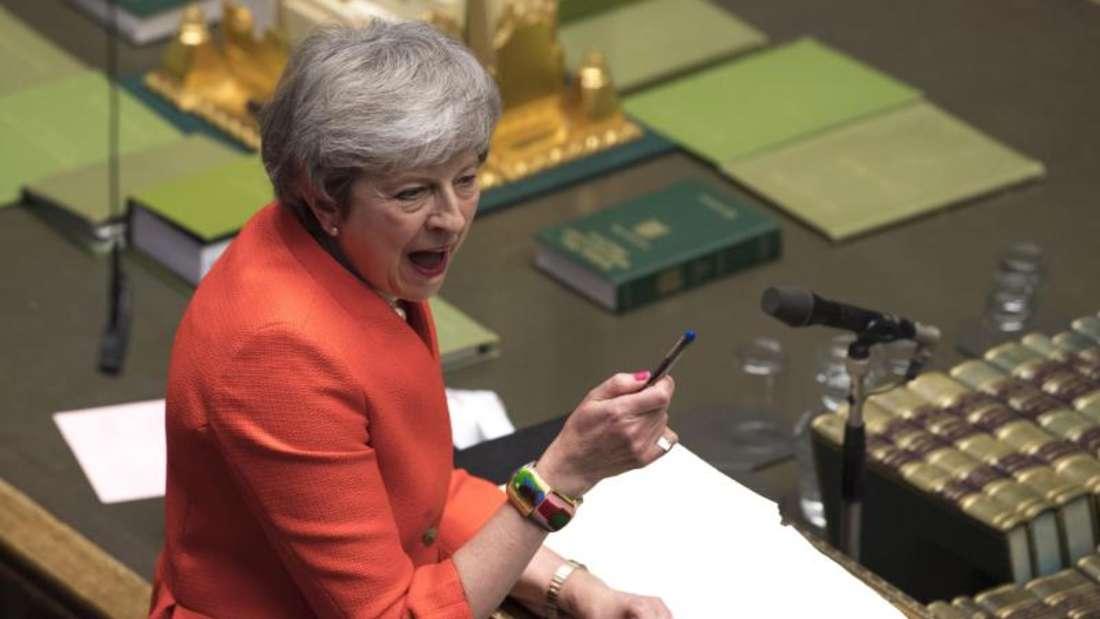 Premierministerin May hatte jüngst erstmals eingeräumt, dass Großbritannien die EUauch nach dem 29. März verlassen könnte. Foto: Mark Duffy/UK Parliament/AP