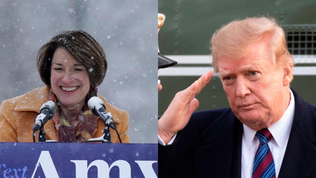 Donald Trump News: Tritt die Demokratin Amy Klobuchar bei Wahl 2020 gegen ihn an?